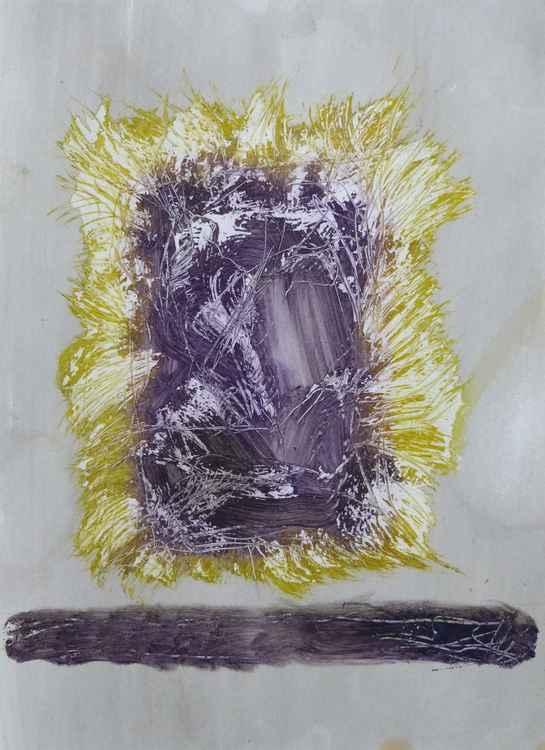 Amethyste, acrylic on paper, 29x41 cm -