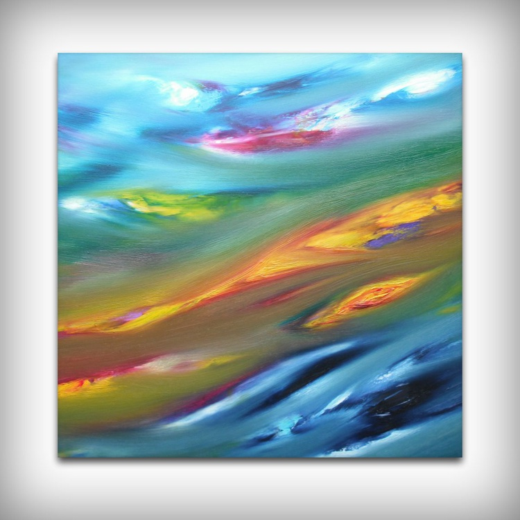 Sighs - 50x50 cm,  Original abstract painting, oil on canvas - Image 0