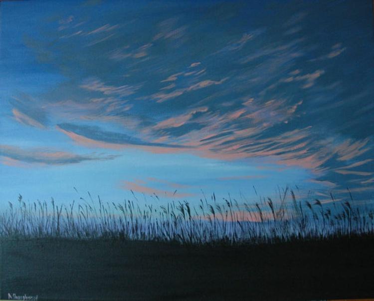 Morning Sky Large Painting - Image 0