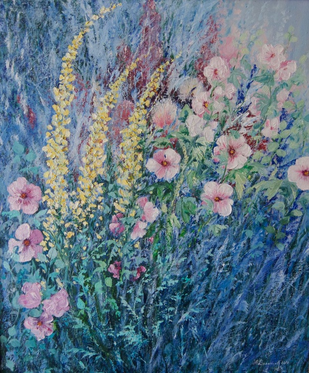 """Impressionist Painting of Flowers """"Flowers have a soul"""", - Image 0"""