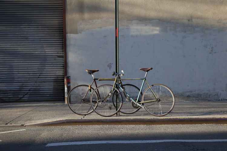 Padlocked Fixie Bikes - Poster Print