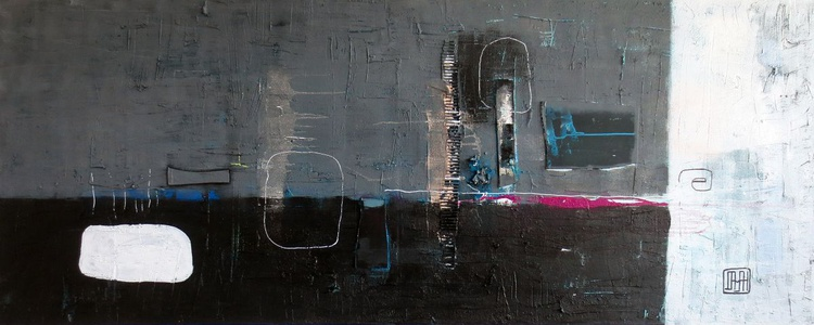 A54 Contemporary abstract minimalist Spiritual Architecture Landscape Acrylic on canvas Large wall art Painting - Image 0