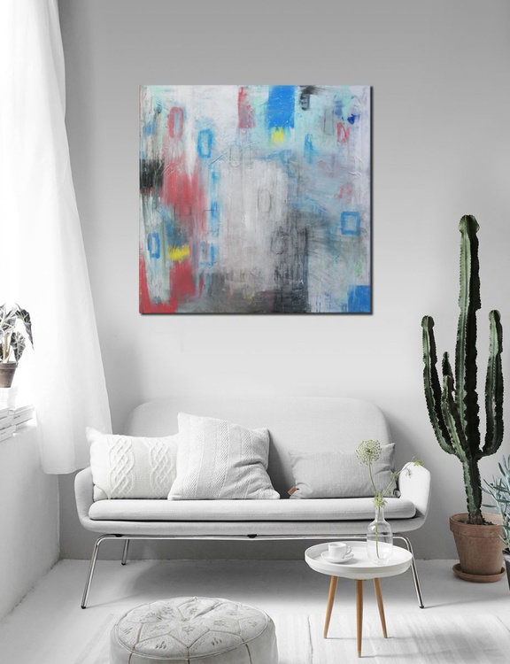 White Number One (427) - Ready to hang artwork - Image 0