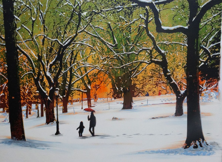 Early Snow, Central Park - Image 0