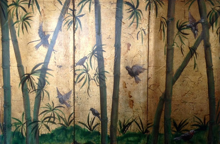 Sparrows and bamboo - Image 0
