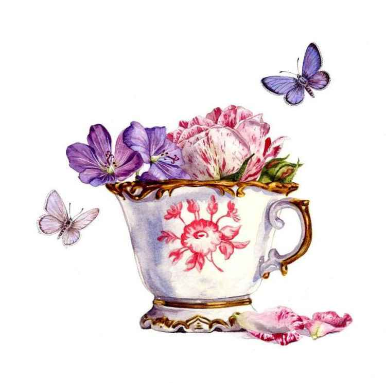 Tea Cup and Rose