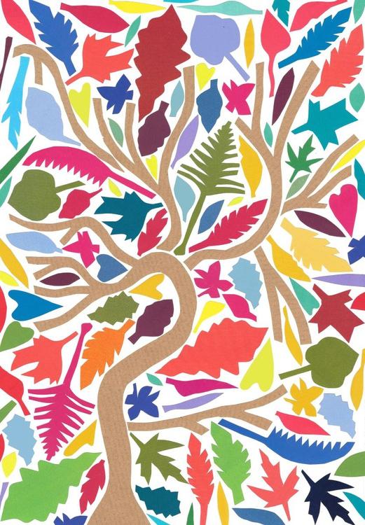 Tree Original Hand-Cut Collage - Image 0