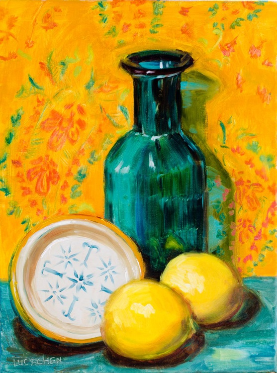 Yellow and Turquoise - Image 0