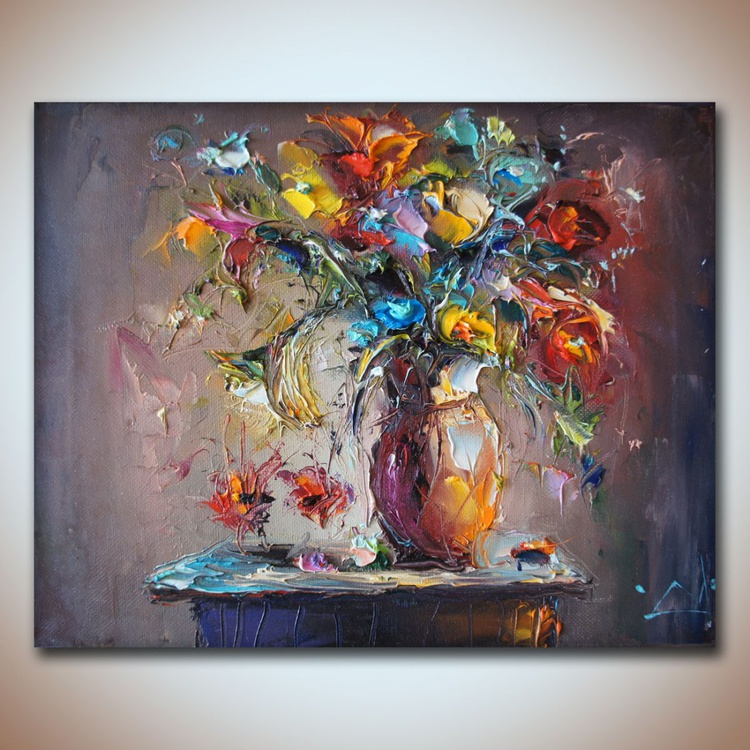Autumn Flowers, oil paintings, Still life paintings, free shipping - Image 0