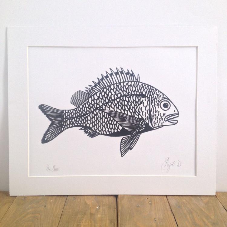 Sea Bream Lino Print - Image 0