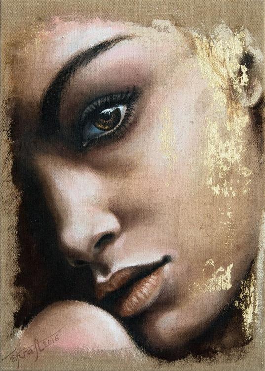 """Anais"", original acrylic painting, 50x70 cm, ready to hang - Image 0"