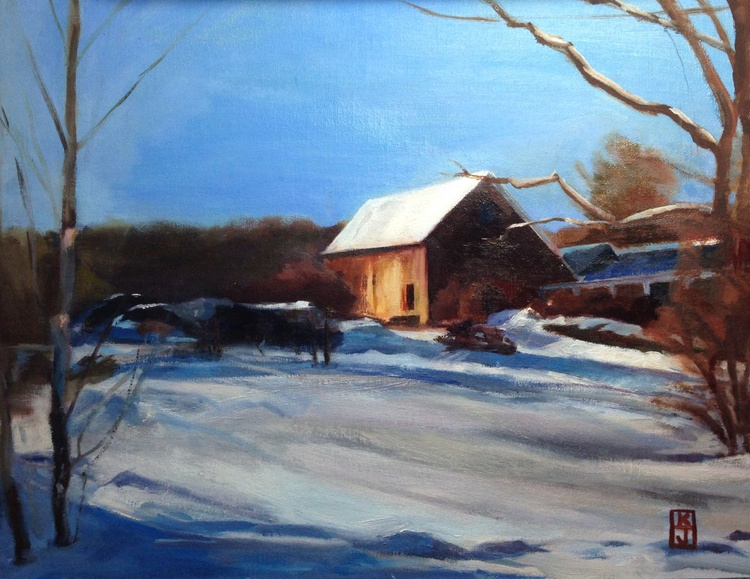 Snowy Afternoon in Putney, Vermont - Image 0