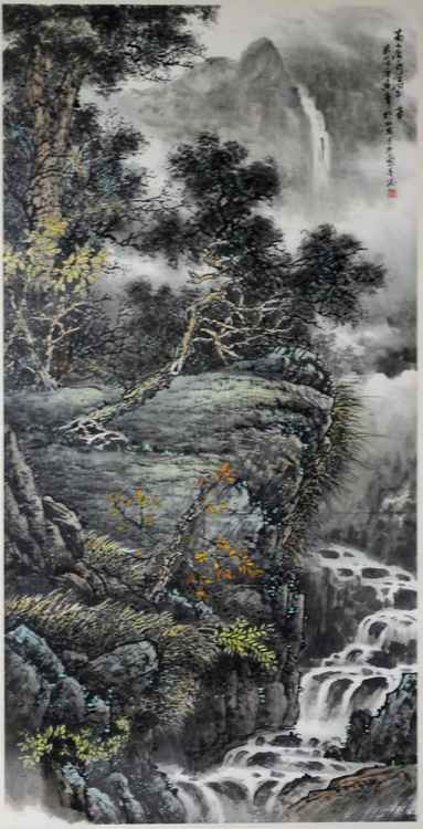 Chinese watercolour Landscape paining-29 -