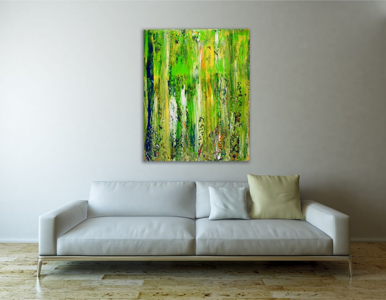 Abstract Terrain (Moss) - FRAMED + SIGNED - Image 0