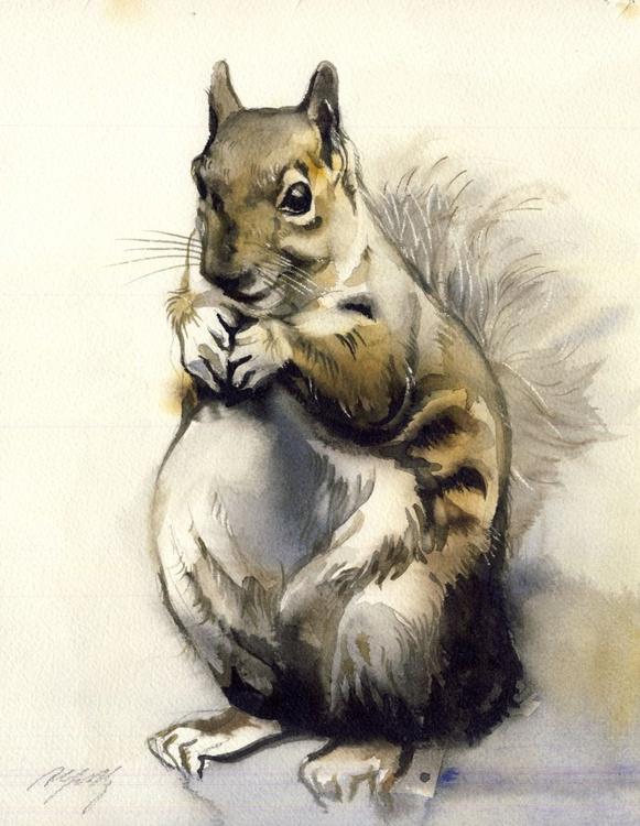 Squirrel watercolor - Image 0