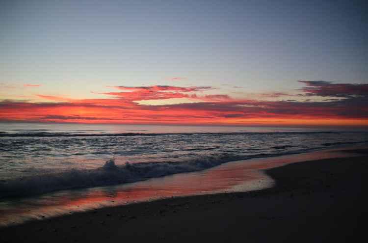 First light on the beach -
