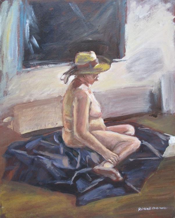 seated female nude - Image 0
