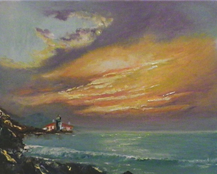 LIGHTHOUSE IN THE RAYS OF THE SUNSET - Image 0