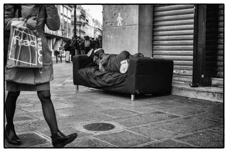 the sofa -