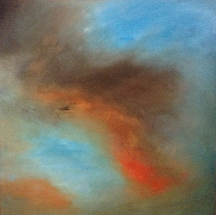 Summer Storm,  100 X 100 cms impressionist Skyscape - Image 0