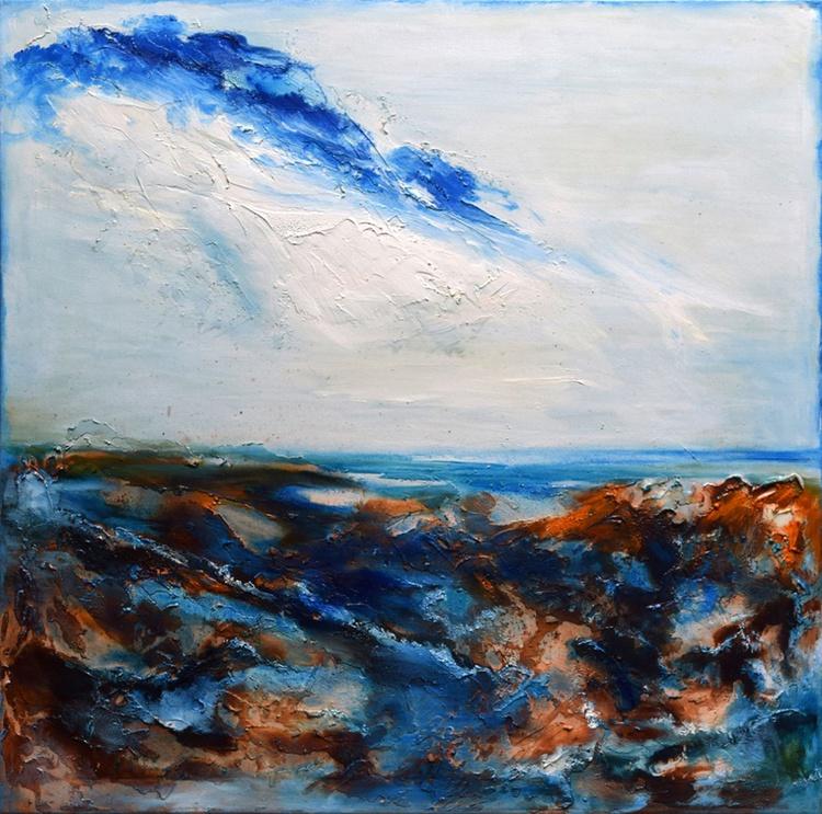 Paysage abstrait / 60 cm x 60 cm - Image 0