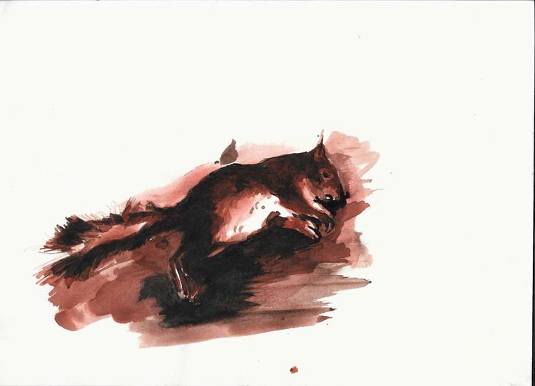 Squirrel, 21x29 cm - Image 0