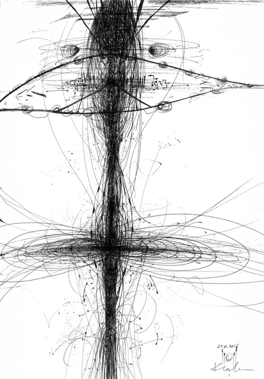 ABOUT SINGULARITY UNIVERSE IS A MASTER ARTIST VIBRATIONS ENERGY LINES LIKE STILL LIFE BY MASTER OVIDIU KLOSKA - Image 0