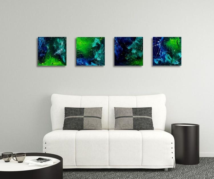 SqA_A1601-4 (4 paintings, each 40x40cm) - Image 0