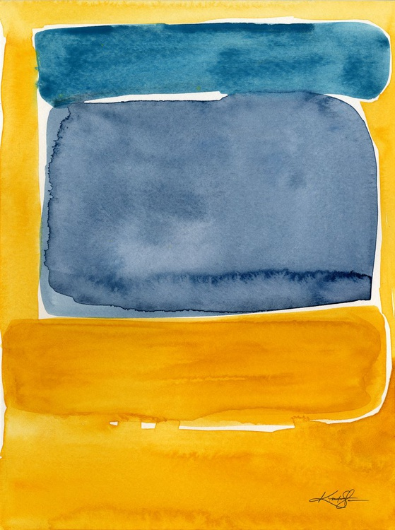 Finding Harmony 10 - Abstract Watercolor Painting - Image 0