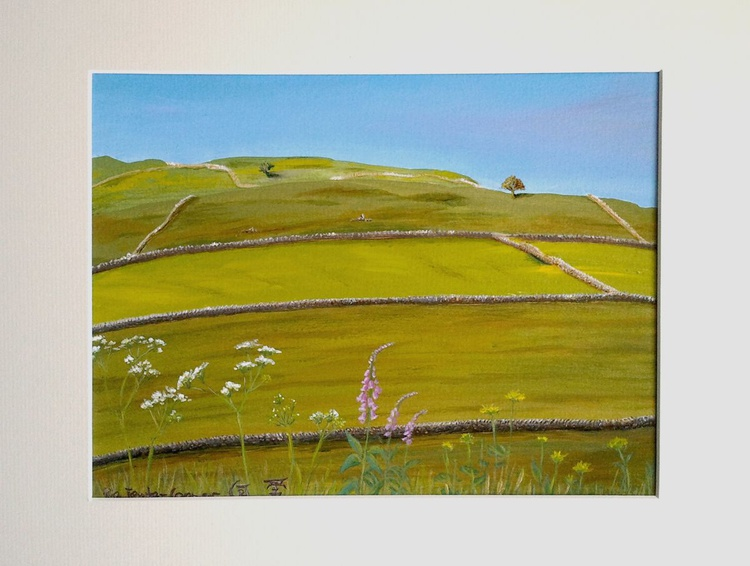 Tranquil Meadows - A Bright Day in the Dales - Image 0