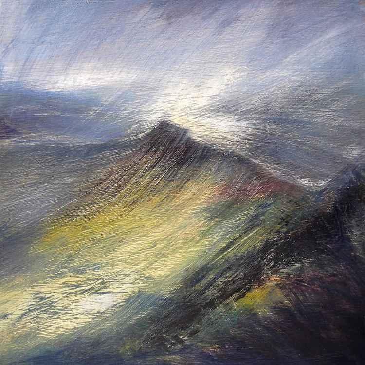 Cribyn from Pen-y-fan, Light in the Storm, Brecon Beacons -