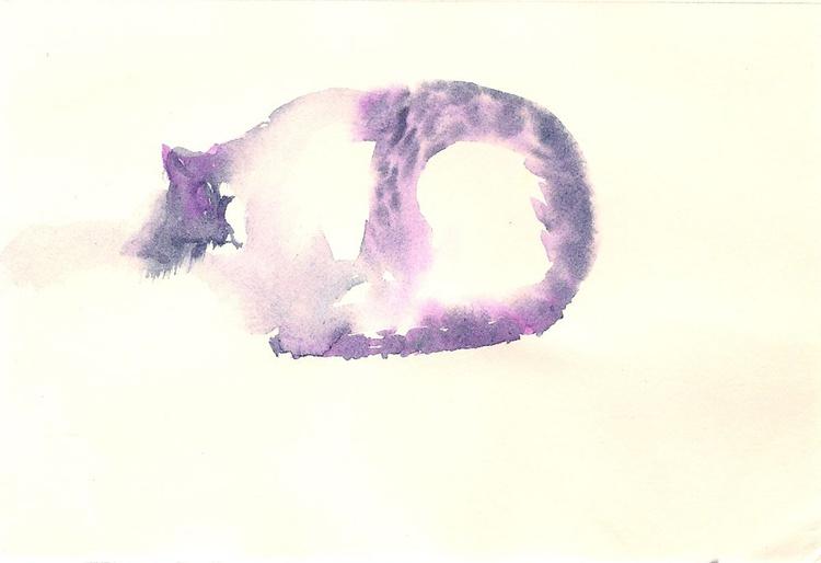 The Fat Purple cat - Image 0