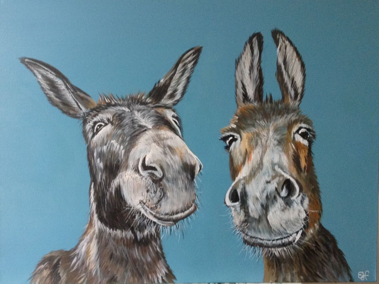 """""""Did someone say carrots?"""" 80x60 cms Acrylic on box Canvas - Image 0"""