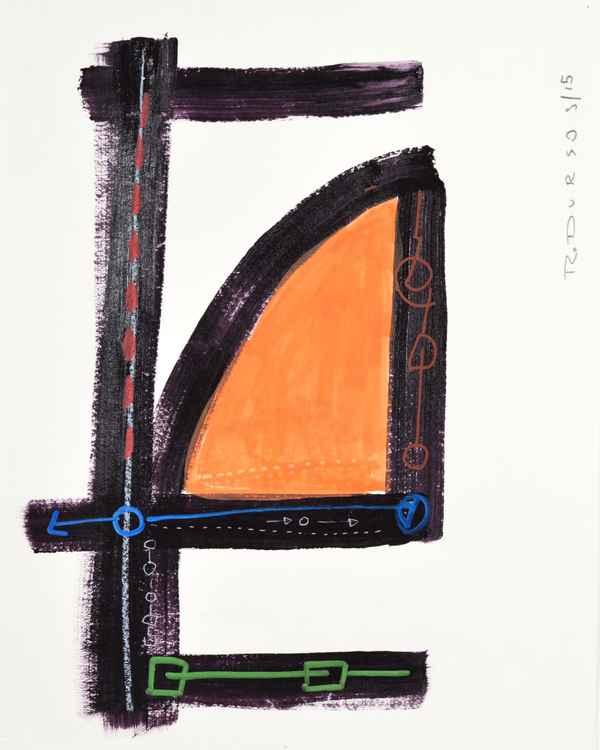 Untitled Orange / Black (2) -