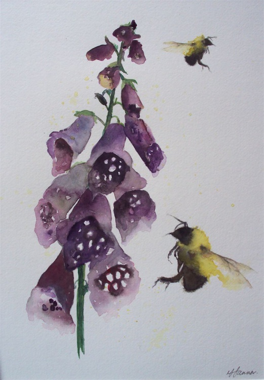Bees & Foxgloves - Image 0
