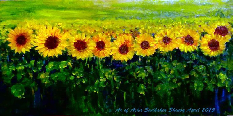Sunflowers in a row - Image 0