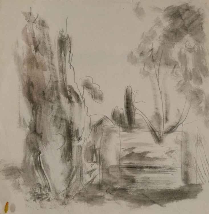 Rural Landscape, 23x23 cm