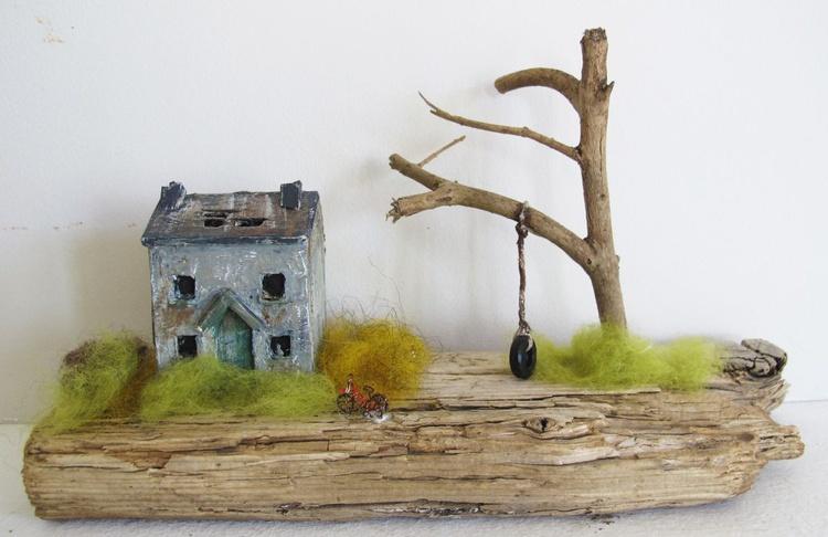 Little derelict cottage with kids bike - Image 0