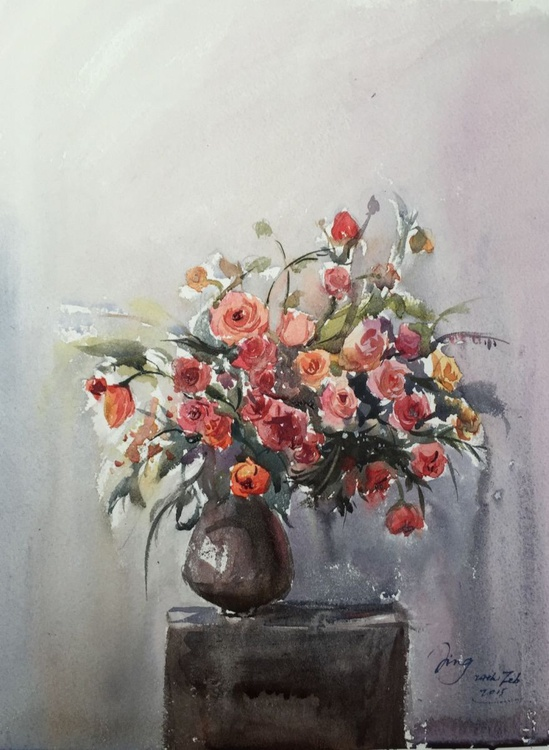 Vase of Roses 2 - Image 0