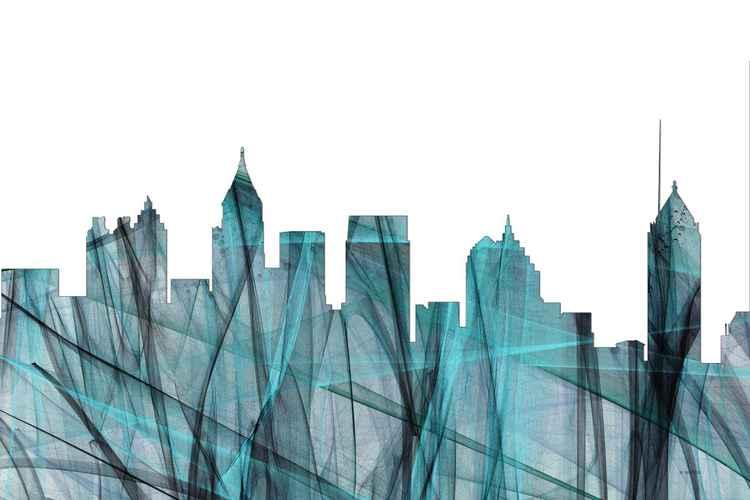 Atlanta, Georgia Skyline - Turquoise Storm -