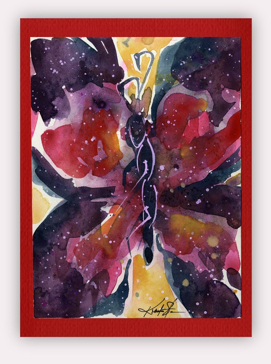 Butterfly Watercolor Painting - Butterfly Delight No. 13 - Image 0