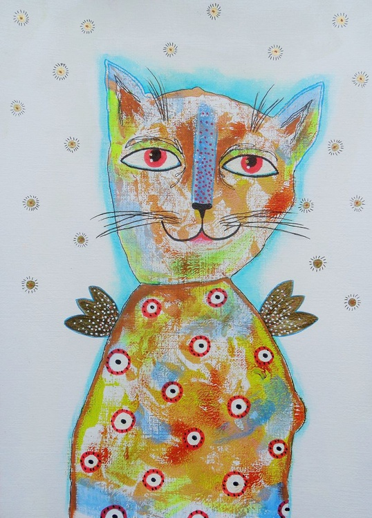 Cat With Golden Wings - Image 0