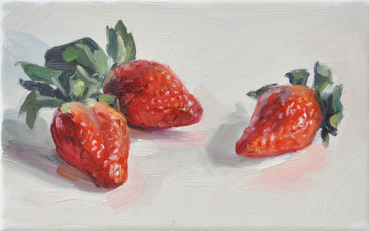 Strawberries on a white background - Image 0