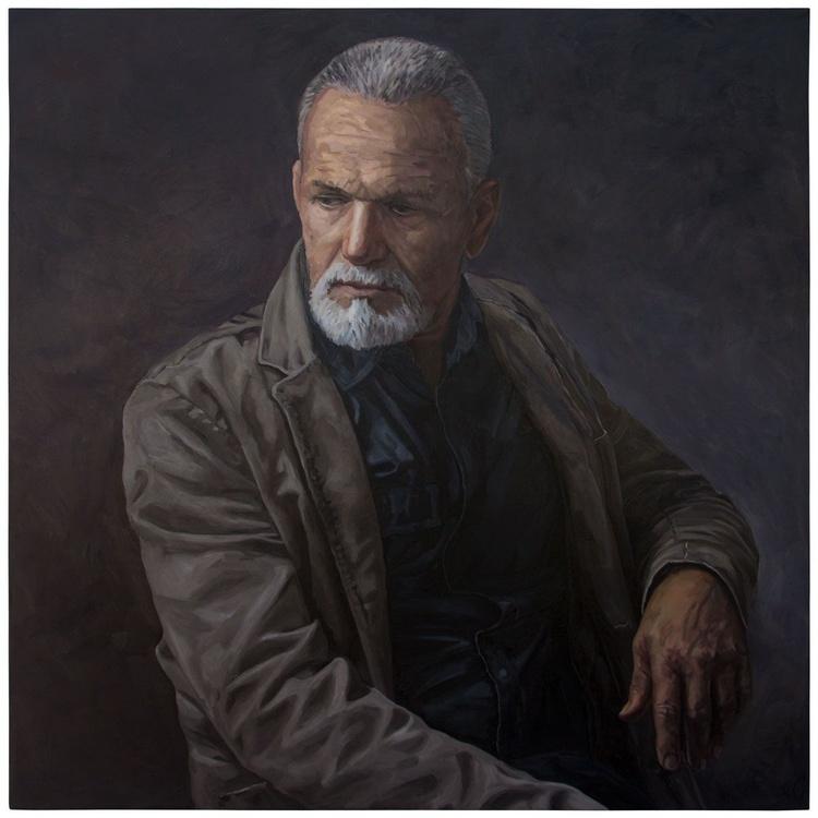 DAD (95x95cm) - my latest portrait, my father, my rock.. - Image 0