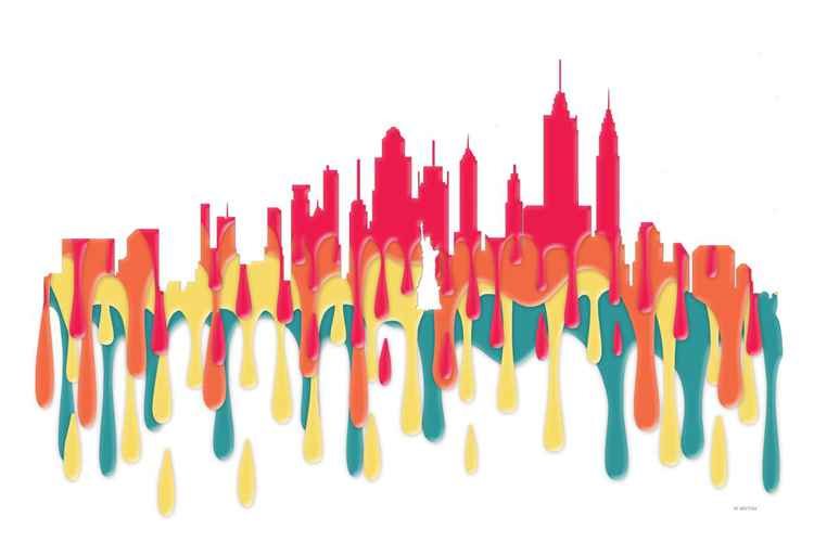 New York City, New York Skyline POBY -