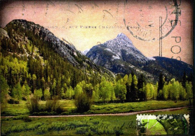 Mountain Range III, Mixed Media Miniature Art - Image 0