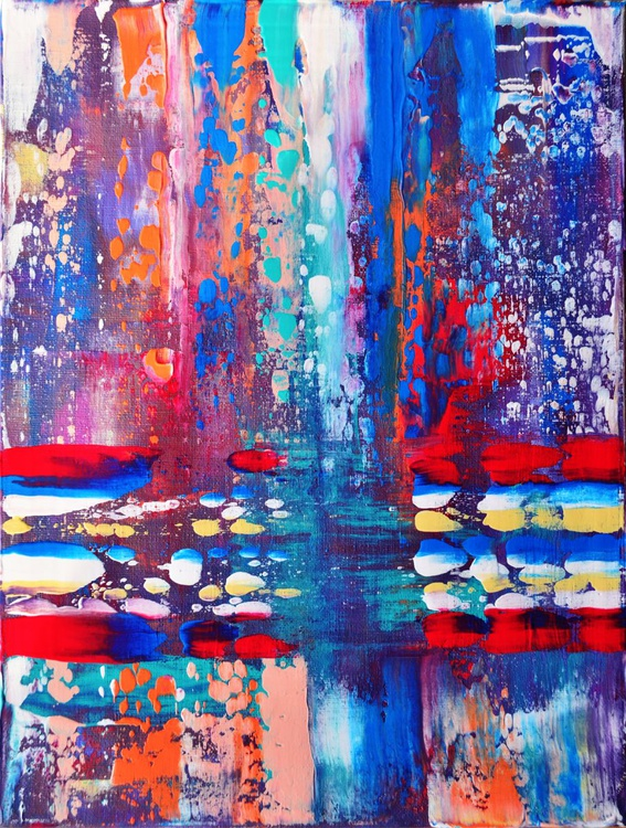 Abstract Home Decor 101 - Original Acrylic Painting Art on Canvas Ready To Hang - Image 0