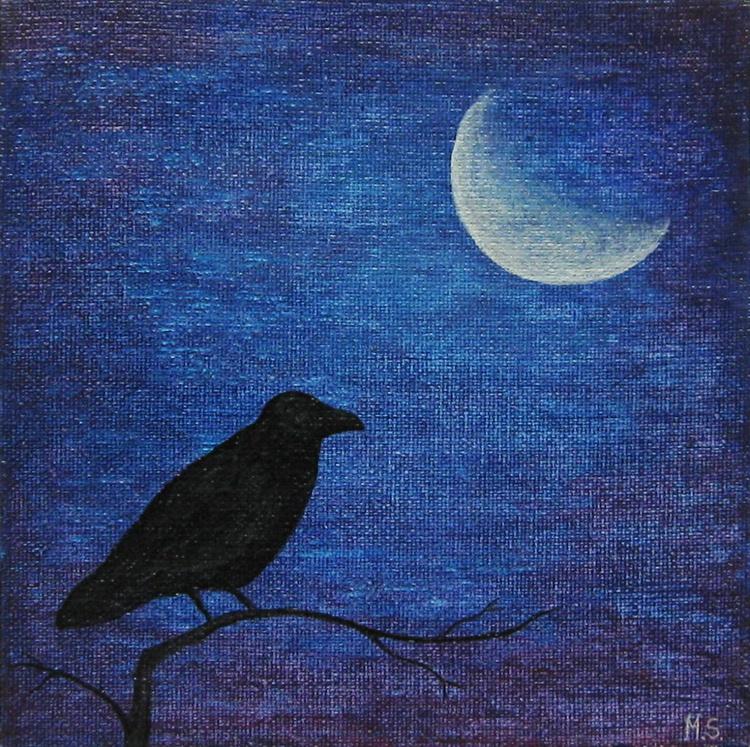 Raven at night - Image 0