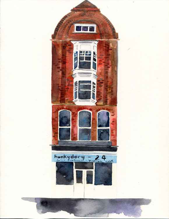 Original Watercolour Painting of Hunkydory-24, Margate