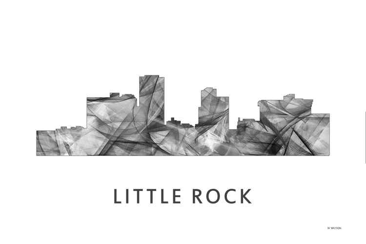 Little Rock Arkansas Skyline WB BW -